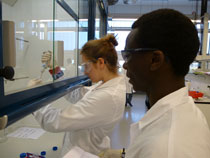 JUB students isolating DNA